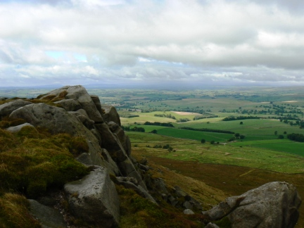 Rylstone Edge on Cracoe Fell one of the few gritstone edges in the Yorkshire Dales
