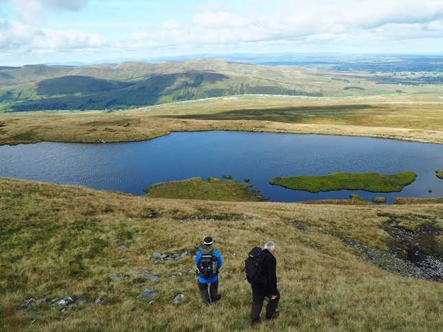Wally and Gary dropping down to Sand Tarn