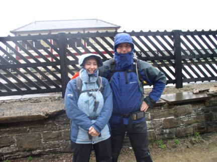Matt and Jo ready to set off from Garsdale Station