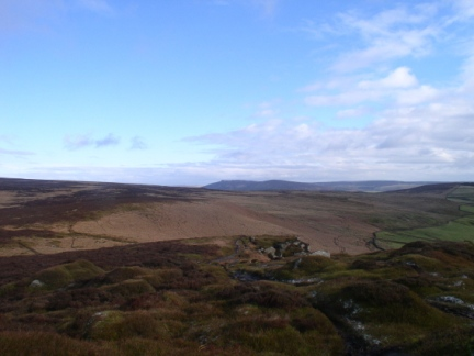 Looking east from Embsay Crag towards Simon's Seat