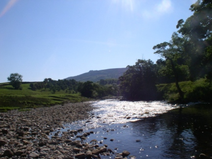 Simon's Seat as seen from the River Wharfe