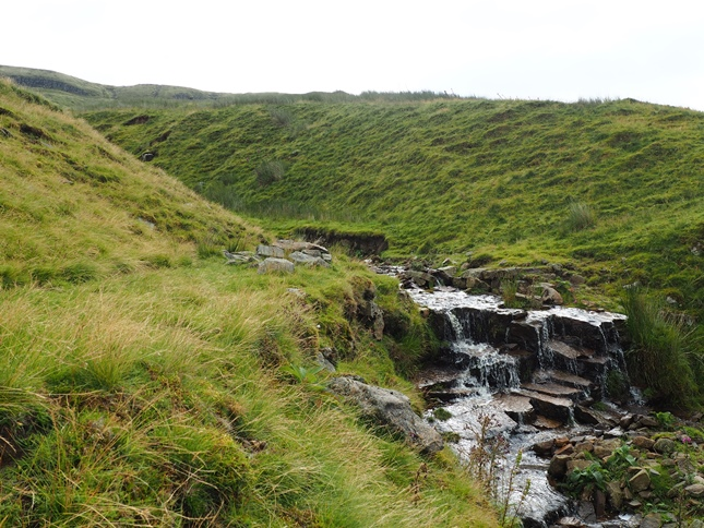 The spot where I crossed Sloe Brae Gill