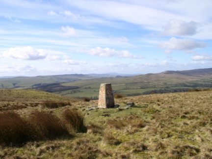 The trig point on South Nab