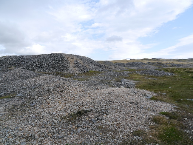 Some of the many spoil heaps littered about Grassington Moor
