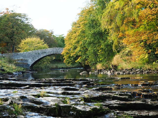 The River Ribble and Stainforth Bridge