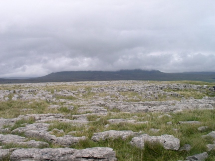 Limestone pavement on Sulber