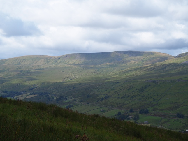 A close up of Swarth Fell from below Mallerstang Edge