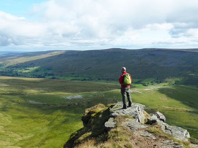 My turn to enjoy the stunning view from Wild Boar Fell's Nab