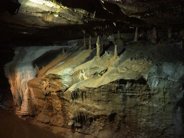The stalagmites known as 'The Skittles'