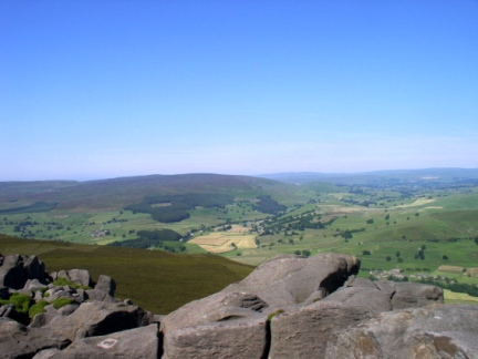 Looking across Wharfedale to Thorpe Fell