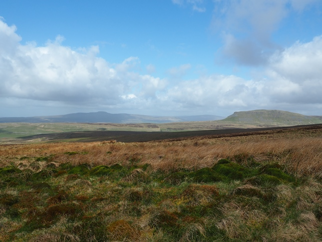 The Yorkshire Three Peaks from the side of Fountains Fell