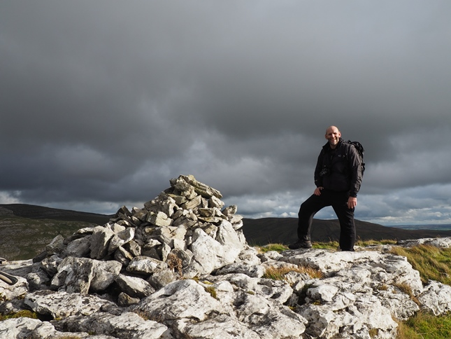Tim by the cairn on Warrendale Knotts