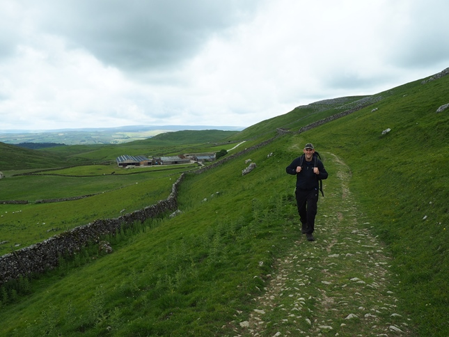 Tim on the bridleway above Stockdale Farm