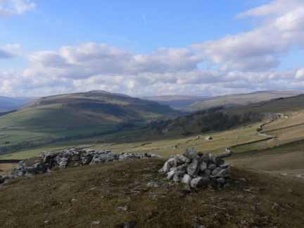The view of Wharfedale from the top of Conistone Pie