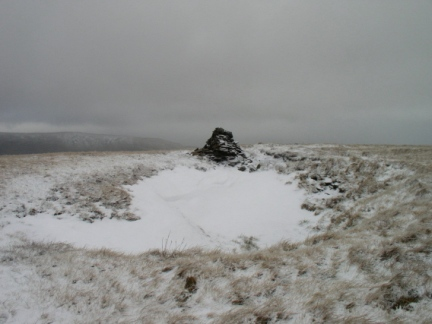 The summit cairn on Great Coum
