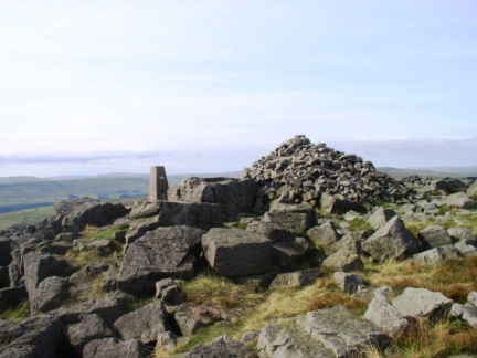 The top of Great Whernside