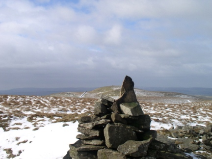 The summit cairn on Kirkby Fell