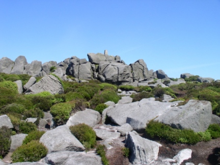The summit outcrop of Simon's Seat