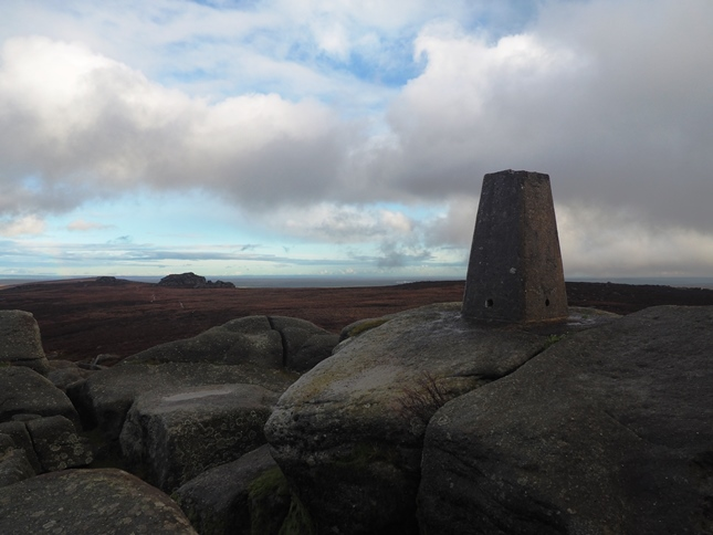 The trig point on the summit of Simon's Seat