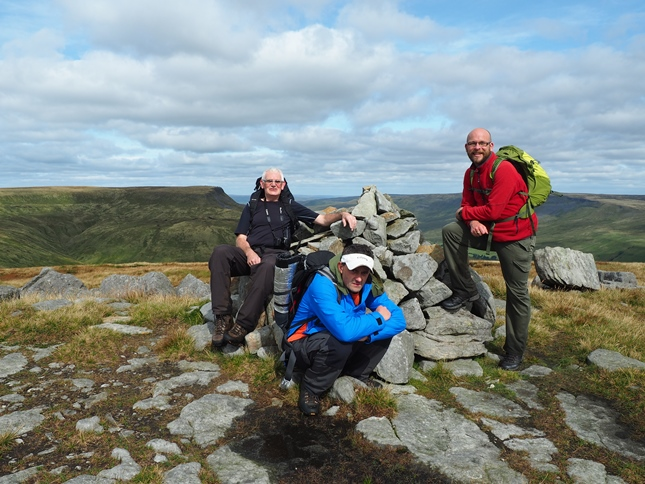 By the summit cairn on Swarth Fell