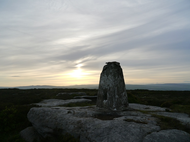 The trig point on Thorpe Fell Top