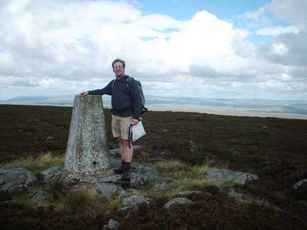 Looking bouffant by the trig point on Water Crag