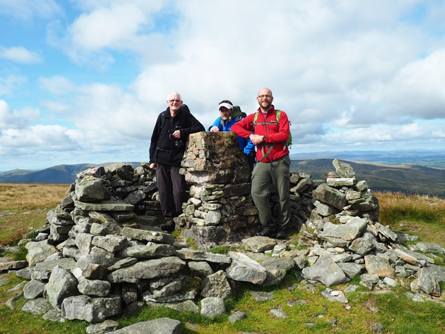 With Gary and Wally on the top of Wild Boar Fell