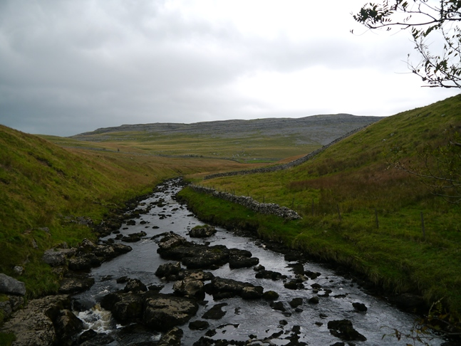 Looking along the River Twiss towards Tow Scar