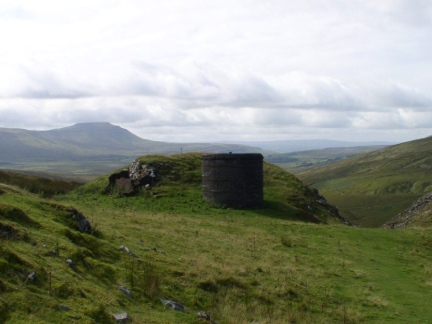 One of the ventilation shafts on Blea Moor