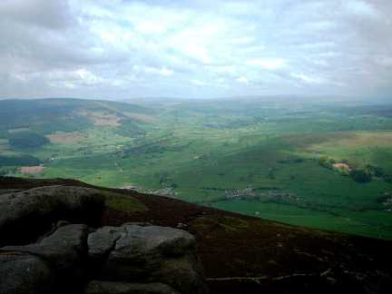 The view down into Wharfedale from Simon's Seat
