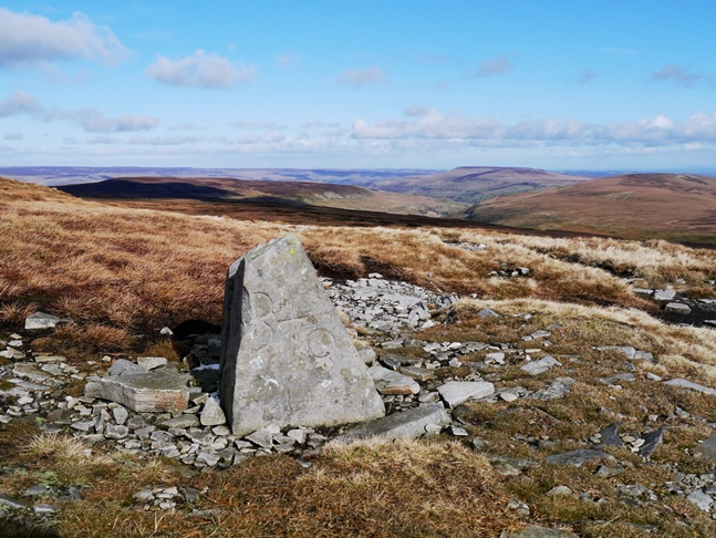 Boundary stone near the head of the track known as 'Walden Road'
