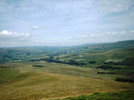 A view of Wensleydale from Widdale Fell