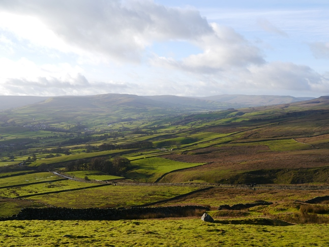The view of Wensleydale from the western end of Ellerkin Scar