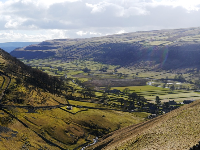 Wharfedale from near the end of Walden Road