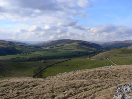 Littondale joins Wharfedale as seen from Davy Dimple
