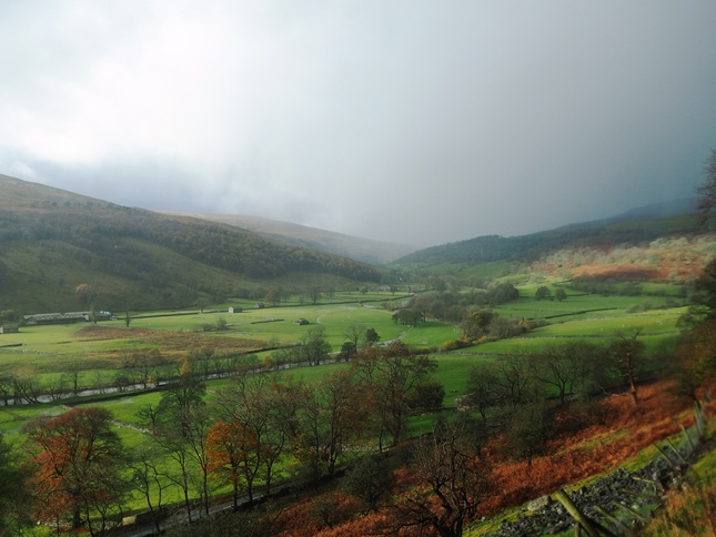The view of upper Wharfedale, looking towards Hubberholme, from Buckden Rake