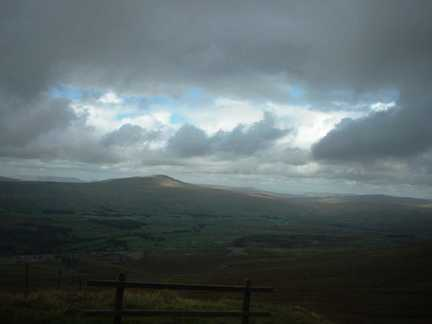 Looking back at Whernside from Ingleborough