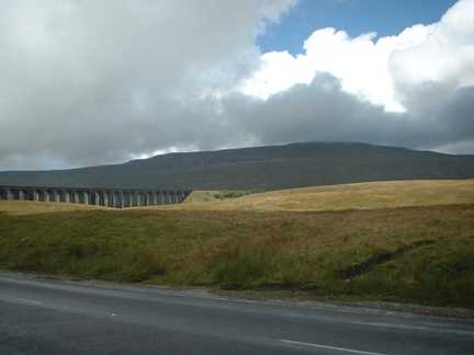 The weather began to clear over Whernside as we reached Ribblehead