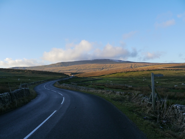 Heading along the road towards Ribblehead and Whernside