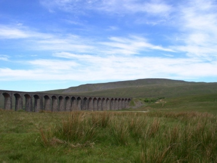 The Ribblehead Viaduct backed by Whernside