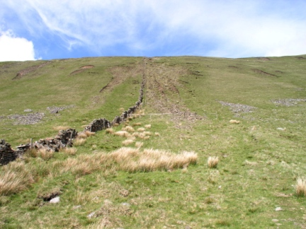 The steep eroded path we took to the top of Whernside