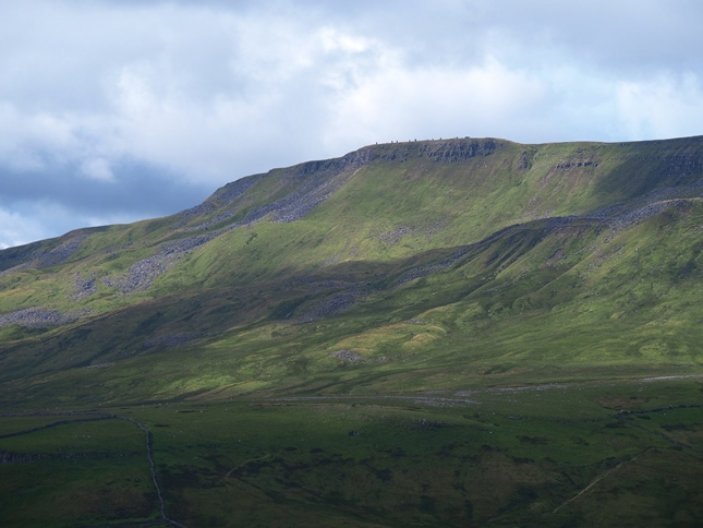 A close up of Wild Boar Fell taken from the same spot below Mallerstang Edge