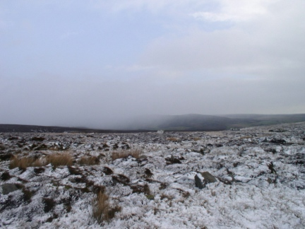 A wintry scene on North Earls as the cloud approaches