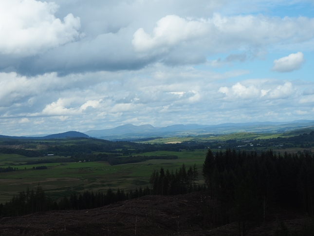The distant Cairnsmore of Carsphairn and the Carsphairn Hills