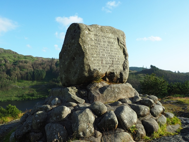 Bruce's Stone at the head of Glen Trool