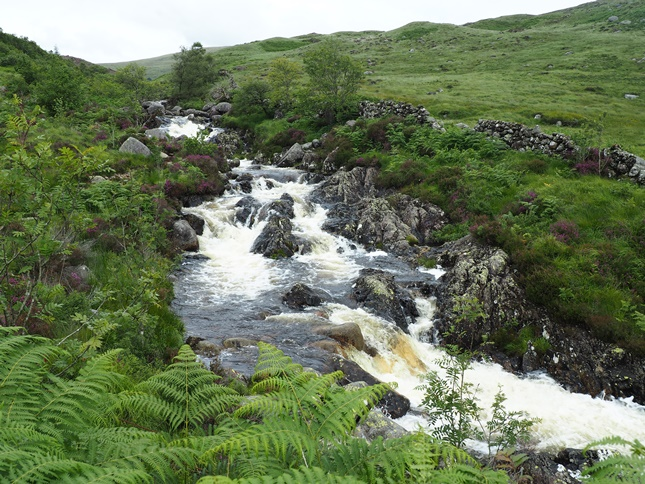 The rapidly flowing Buchan Burn