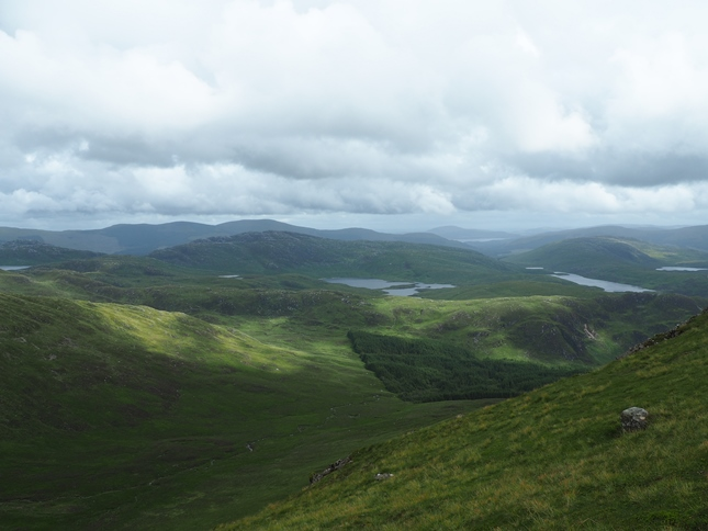 The Galloway Hills from the top of Benyellary