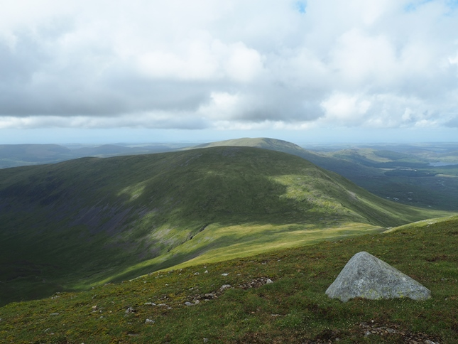 Kirrierioch Hill, the next summit north in the Range of the Awful Hand
