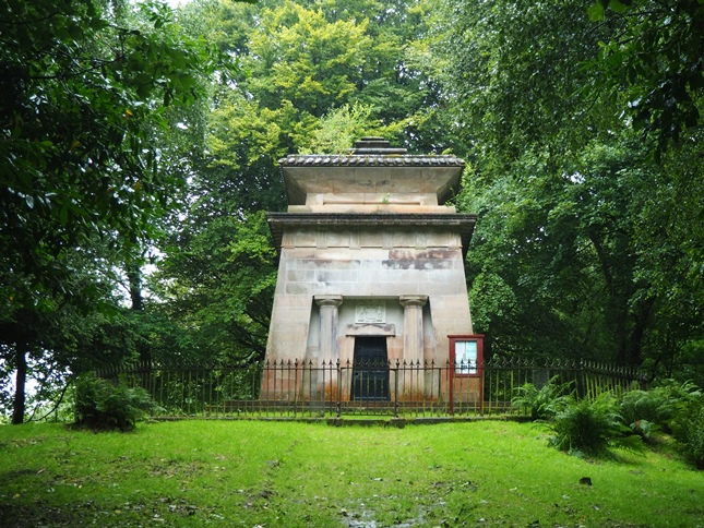 The Douglas Mausoleum in memory of Sir William Douglas who in 1792 founded the town of Castle Douglas