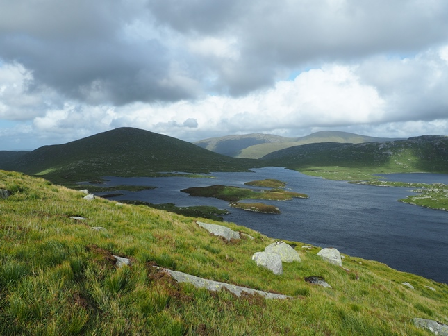 Mullwharcher at the head of Loch Enoch in the heart of the Galloway Hills